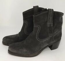 Franco Martini Women Western Boots Ankle Booties Suede Italy Size EU 39 US 8.5