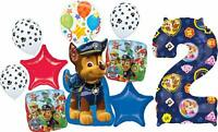 Paw Patrol Party Supplies 2nd Birthday Balloon Bouquet Decorations
