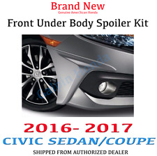 Genuine OEM Honda Civic 2Dr / 4Dr Front Under Body Spoiler Kit 2016 - 2017
