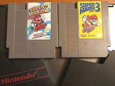 Set of 2-SUPER MARIO BROS 2 & 3 NINTENDO Video Games, Cleaned, Tested & Working