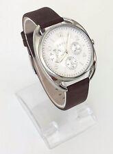 Esprit Damen Uhr Annie braun silber Leder Steine Datum Wochentag 24h ES108172001