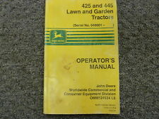 john deere 425 manual ebay rh m ebay ca Z445 Mulching Kit Z445 Engine
