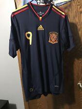 FERNANDO TORRES ADIDAS SPAIN 2010 WORLD CUP AWAY JERSEY SIZE MEDIUM