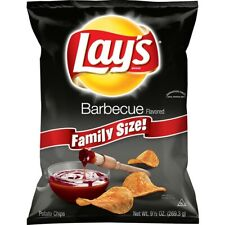 NEW LAYS FAMILY SIZE BARBECUE FLAVORED POTATO CHIPS 9.5 OZ BAG FREE SHIPPING