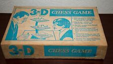 VINTAGE 3-D CHESS SET SPACE AGE GAME & BOX REMINISCENT STAR TREK ORIGINAL SERIES