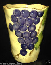 "GANZ BELLA CASA VINEYARD COLLECTION MUG 5"" PURPLE GRAPES GREEN LEAVES & VINES"