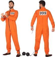 Déguisement Homme PRISONNIER Orange XL Cinéma Clips Jackson NEUF Pas cher