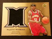 Jason Terry Hawks Mavericks Arizona 2004 Upper Deck Game Jersey Certified JG4
