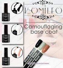 NEW KOMILFO - Gel LED/UV  Rubber Base Base coat White Black Nude original