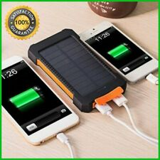 Solar panel power bank travel backup battery USB charger 30000mAh for iphone 6 7
