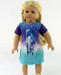 """Majestic Unicorn Nightgown Fits 18"""" American Girl Doll Clothes"""