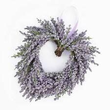 """Decorative Lavender heart, violet, Ø8""""/20cm -Decorative wreath/Artificial flower"""