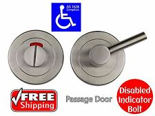 DISABLED INDICATOR BOLT VACANT ENGAGED BATHROOM TOILET DOOR LOCK AS1428.1
