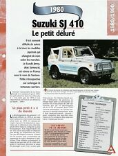 VOITURE SUZUKI SJ 410 SANTANA FICHE AUTO 1980 RENSEIGNEMENT TECHNIQUE