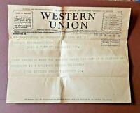 Century of Progress 1933 Worlds Fair Chicago WESTERN UNION Souvenir TELEGRAM