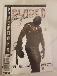 BLADE II Official Film Adaptation comic SIGNED SEVE GERBER COA DF HorroR vampire