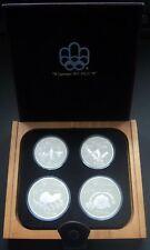 Silber Gedenkmünzen Kanada Montreal 1976 Serie 4  Schatulle Holzschatulle Box
