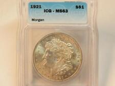 1921 P MORGAN DOLLAR ICG MS63  BU