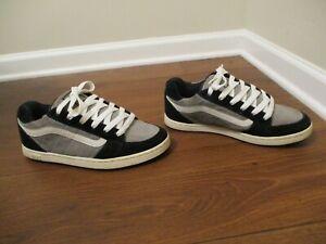 Rare Classic Used Size 10.5 Vans Estilo Skateboard Shoes Black Gray White