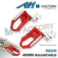 For Honda NC750 S / X 14-17 15 16 39mm Rear Foot Pegs Touring Adjustable RED