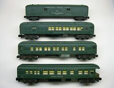 Set of 4 American Flyer Green Painted Heavyweight Passenger Cars Ob [Lot 10-P71]