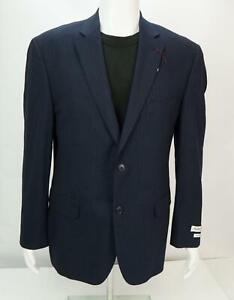 Jos. A. Bank 1905 Men's Suit Jacket Sport Coat Pinstripe Blue Size 41R NWT