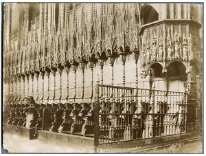 Espagne, Barcelona, Catedral de Santa Eulalia. Detalle del coro  Vintage citrate
