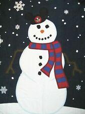 "New! Disney Mickey Snowman Holiday Christmas Tapestry Throw Blanket 48""x54"""