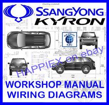 ssangyong kyron workshop service repair manual & wiring diagrams