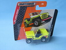 Matchbox Jeep Willys Life Guard Rescue 4x4 Toy Model Car Army in BP 60mm Long