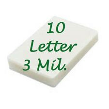 10 LETTER Laminating Laminator Pouches Sheet 3 Mil 9 x 11-1/2 Scotch Quality