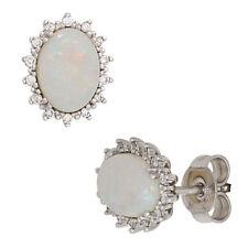 Natürliche echte Opal-Ohrschmuck