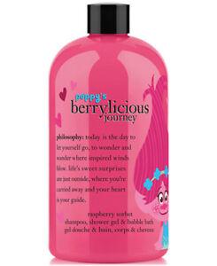 Philosophy TROLLS Shampoo Shower Gel Bubble Bath Poppys Berrylicious Raspberry
