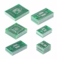 30x Assorted SMD To DIP Adapter Converter PCB Boards FQFP32-100 QFN48 HTQFP SOP8