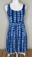 Modcloth Women's Sleeveless Knee Length Dress Size M In Shibori Print B4