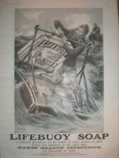 Lifebuoy Soap coastguard art UK large advert 1906