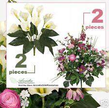 4 Artificial Flower Bush Calla Lily + Ranunculus Cosmos