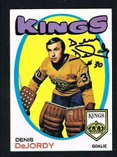 Denis DeJordy signed autograph auto 1971-72 Topps Hockey Card