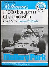 Mallory Park ROTHMANS F5000 euro programme 26 MAR 1972