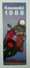 Prospectus Catalogue Brochure Moto Kawasaki Gamme 1988 English