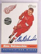 2000-01 Topps Heritage Real Ones Alex Delvecchio autograph auto *67592