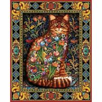 Diamond Painting Cross Stitch Cat Flowers Icon Full Square Drill DYI Mosaic 5D