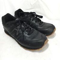 New Balance Men's 6.5 M Black Leather Lace Up Athletic Walking Shoes