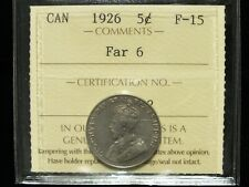 1926 - Far 6 - Canadian Five Cent - ICCS Graded F-15