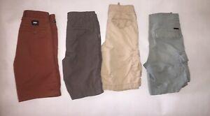 Lot of 4 Boys Shorts Cargo Chino Gap Vans Joes Urban Size 8