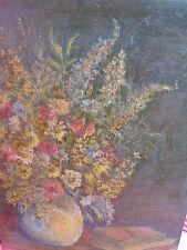 bello,antico dipinto____Natura Morta con Fiori__Autografato____