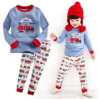 "Vaenait Baby Toddler Kids Boy Clothes Sleepwear Pajama Set ""T.Toot train"" 12M-7T"