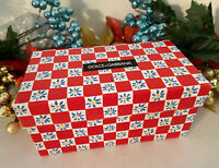 Dolce&Gabanna Gift Box Red Checkered Floral Eyeglass Sunglass Empty Box Only