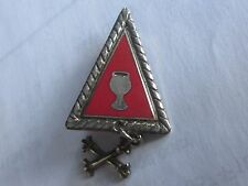 Nice Chalice Coat of Arms Triangle Fraternal Pin
