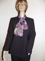 Le Suit Petite Women's 8 Petite Pant Suit Pin Stripe Black Career Business Wear